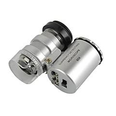 iphone / ipad / samsung / htc + daha fazla cep telefonu / tablet pc için belirlenen evrensel 60x mikroskop merceği