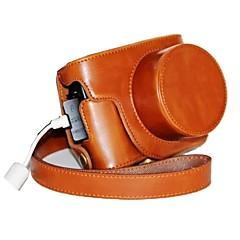 캐논 파워 샷 G1X 마크 II G1X의 m2에 대한 충전 포트와 복고풍 PU 가죽 카메라 보호 케이스를 pajiatu®