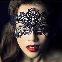 Μάσκα Στολές Ηρώων Γιορτές/Διακοπές Κοστούμια Halloween Μαύρο Δαντέλα / Μονόχρωμο Μάσκα Halloween Γιούνισεξ Δαντέλα