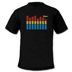 geluid en muziek geactiveerd el Visualizer vu-spectrum danser t-shirt (2 * aaa)