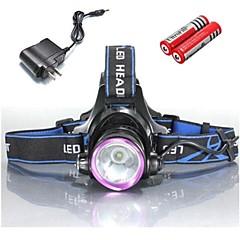 Φακοί Κεφαλιού Φώτα Ποδηλάτου LED 2000 Lumens 3 Τρόπος Cree XM-L T6 18650 18350 Ανθεκτικό στα Χτυπήματα Επαναφορτιζόμενο Αδιάβροχη