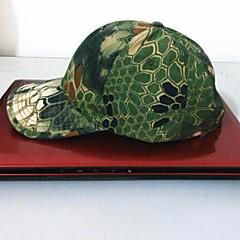 ESDY fiskeri visir udendørs vindtæt polyester camouflage hat baseball cap sol grøn python