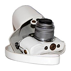 17mm 또는 14-42mm 렌즈와 올림푸스 펜 E-PL7의 epl7에 대한 dengpin® PU 가죽 카메라 케이스 가방 커버