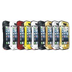 Na Etui iPhone 5 Odporne na wstrząsy / Wodoodporne / Odporne na kurz Kılıf Futerał Kılıf Zbroja Twarde Metal iPhone SE/5s/5