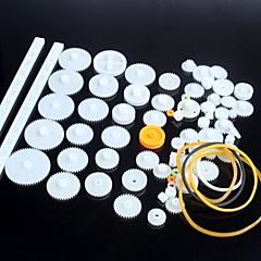 Plastik dişli motor dişli robot parçaları diy modeli kiti 75 çeşit