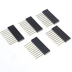 arduino için kadın pin başlıkları yüksek kaliteli 2.5mm saha 10-pin erkek (5 adet)
