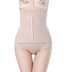 Corrigerend ondergoed Ademend / Drie Dimensionale Maat Doek / Chinlon Jacquard Slip Hoge taille  Middel Zwart / Beige