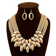 Damskie Zestawy biżuterii Kolczyki wiszące Naszyjniki Śliniaki Wyrazista biżuteria Europejski luksusowa biżuteria Modny Akrylowy Materiał