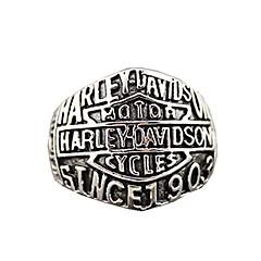 남성용 문자 반지 의상 보석 티타늄 스틸 보석류 제품 파티 일상 캐쥬얼 스포츠 크리스마스 선물