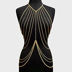 Łańcuszek na brzuch Stop Złoty / Srebrne Biżuteria,1szt