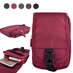 For Pung Etui Pose etui Etui Helfarve Blødt Tekstil for Universal S6 edge S6 S5 S4 Mini S4 S3 A5 Note 4