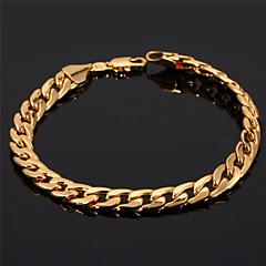 Naisten Ranneketjut Rannerenkaat Classic pukukorut Gold Plated Circle Shape Korut Käyttötarkoitus Häät Party Syntymäpäivä Päivittäin