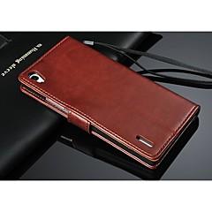 pu lederen portemonnee patroon full body geval is met kaarthouder voor Huawei p7 (assorti kleur)