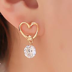 Mulheres Brincos Compridos Básico Coração Moda bijuterias Liga Formato de Coração Jóias Para Festa Diário Casual