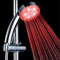3 színű ABS hőmérséklet kimutatható vezetett színváltó kézi zuhany