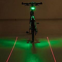Bisiklet Işıkları / LED Işık Lambalar / Bisiklet Arka Işığı LED / Laser - Bisiklet Uyarı AAA 400 Lümen Pil Bisiklete biniciliği