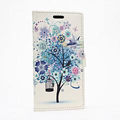 Varten HTC kotelo Korttikotelo / Lomapkko / Tuella / Flip Etui Kokonaan peittävä Etui Puu Kova Tekonahka HTC