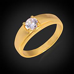 Női Páros gyűrűk Vallomás gyűrűk Karikagyűrűk Kocka cirkónia jelmez ékszerek Cirkonium Kocka cirkónia Platina bevonat Arannyal bevont