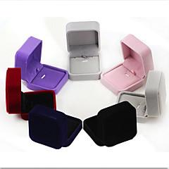 Pudełka na biżuterię Flanela 1szt Dark Blue / Czarny / Czerwony / Fioletowy / Szary / Różowy