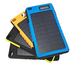 5800mAh mobiele externe batterij met zonne-heffing voor de iPhone Samsung en andere mobiele apparaten (zwart / blauw / geel / oranje)