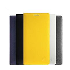 Voor OnePlus hoesje Kaarthouder Automatisch aan/uit Flip hoesje Volledige behuizing hoesje Effen kleur Hard PU-leer voor OnePlusOne Plus