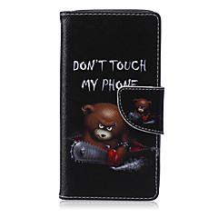 For Samsung Galaxy etui Kortholder Med stativ Flip Magnetisk Mønster Etui Heldækkende Etui Ord / sætning Kunstlæder for Samsung A5 A3