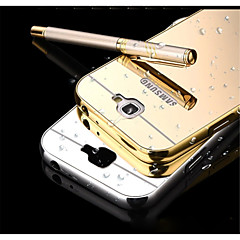 For Samsung Galaxy Note Spejl Etui Bagcover Etui Helfarve Metal for Samsung Note 5 Note 4 Note 3 Note 2