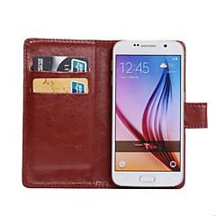 Varten Samsung Galaxy kotelo Korttikotelo / Tuella / Flip / 360° kierto Etui Kokonaan peittävä Etui Yksivärinen Tekonahka SamsungS