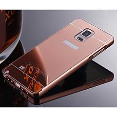 Varten Samsung Galaxy Note Pinnoitus Etui Takakuori Etui Yksivärinen Metalli Samsung Note 5 / Note 4 / Note 3 / Note 2