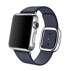 Faixa de relógio para relógio de maçã moderna fivela pulseira de reposição de couro genuíno tamanho da cinta m