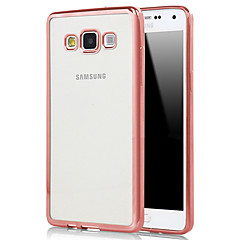 Mert Samsung Galaxy tok Galvanizálás / Átlátszó Case Hátlap Case Egyszínű TPU Samsung A7(2016) / A5(2016) / A9 / A8 / A7 / A5