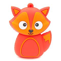 zpk37 16gb κόκκινη αλεπού κινουμένων σχεδίων usb μονάδα μνήμης flash 2,0 u κολλήσει