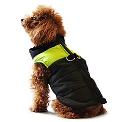 honden Jassen Gilet Rood Oranje Geel Groen Blauw Zwart Roze Hondenkleding Winter Lente/Herfst Kleurenblok Casual/Dagelijks Houd Warm