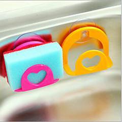 3 db konyhai univerzális szívó fal tisztító szivacs lóg mosás törölköző kendővel állvány tároló állvány balek állvány