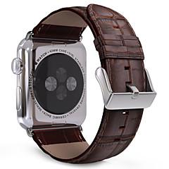 Faixa de relógio para relógio de maçã 38mm 42mm clássico fivela de couro de substituição padrão de crocodilo