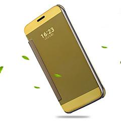 For LG etui Belægning Spejl Flip Transparent Etui Heldækkende Etui Helfarve Hårdt Akryl for LG LG G5