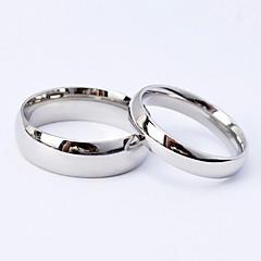 Férfi Női Páros Páros gyűrűk jelmez ékszerek Titanium Acél Ékszerek Kompatibilitás Esküvő Parti Napi Hétköznapi Sport