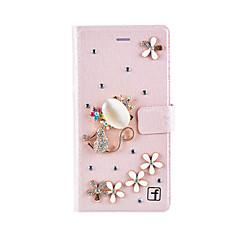 Για Θήκη Huawei / P8 / P8 Lite Πορτοφόλι / Θήκη καρτών / Ανθεκτική σε πτώσεις / Στρας tok Πλήρης κάλυψη tok Κινούμενα σχέδια 3D Σκληρή