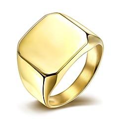 Heren Bandringen Modieus Eenvoudige Stijl Kostuum juwelen Titanium Staal Verguld Sieraden Voor Bruiloft Feest Dagelijks Causaal