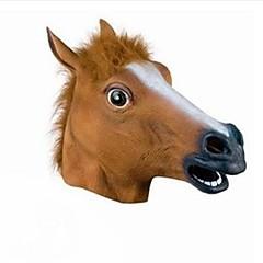 πλήρες κεφάλι μάσκα αλόγου μάσκα κεφάλι ανατριχιαστικό γούνα χαίτη λάτεξ ρεαλιστική τρελό καουτσούκ σούπερ ανατριχιαστικό κόμμα μάσκα