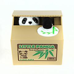 Spaardoosje Stalen muntbank Money Box opslaan Gevaar Spaarpot Schattig Vierkant Panda