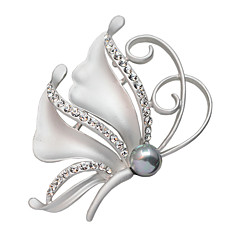 de cristal borboleta feminino cheio de emblemas de strass lenço da forma fivela broche de presente xmas