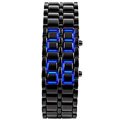 Αντρικά Μοδάτο Ρολόι Ρολόι Καρπού Μοναδικό Creative ρολόι Ψηφιακό LED Ημερολόγιο σιλικόνη Μπάντα Βραχιόλι Μαύρο ΑσημίΑσημί Μαύρο/Κόκκινο