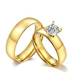 Herre Dame Parringe Frynsetip(s) Mode Vintage Kvadratisk Zirconium Titanium Stål Smykker Til Bryllup Fest Daglig Afslappet