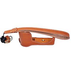 dengpin® PU 가죽 하프 카메라 케이스 가방 커버베이스 forsony a5100 A5000 (모듬 색상)
