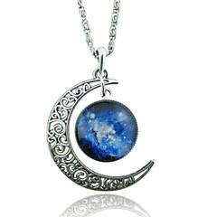 Női Nyaklánc medálok hold Drágakő Üveg Ötvözet Egyedi Divat Galaxis Európai jelmez ékszerek Ékszerek Kompatibilitás Esküvő Parti