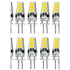 10 stk 1,5w g4 6smd 5733 dc12v 150-200lm varm hvid / hvid dekorative / vandtæt bi-pin lys