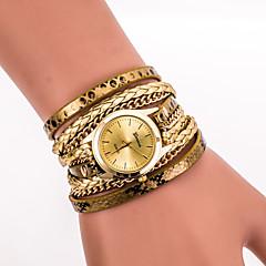 Damskie Zegarek na nadgarstek Zegarek na bransoletce Kwarcowy Kolorowy PU Pasmo Postarzane Cętki Artystyczny Nowoczesne Na co dzieńCzarny