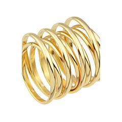 Gyűrűk Divat Parti / Napi Ékszerek Ötvözet Női Karikagyűrűk 1db,9 Aranyozott