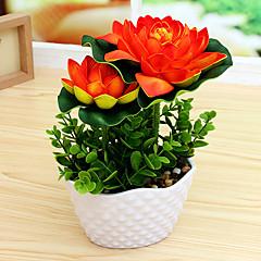 Set of 1 PCS 1 Κλαδί Πολυεστέρας Λοτός Λουλούδι για Τραπέζι Ψεύτικα λουλούδια 6